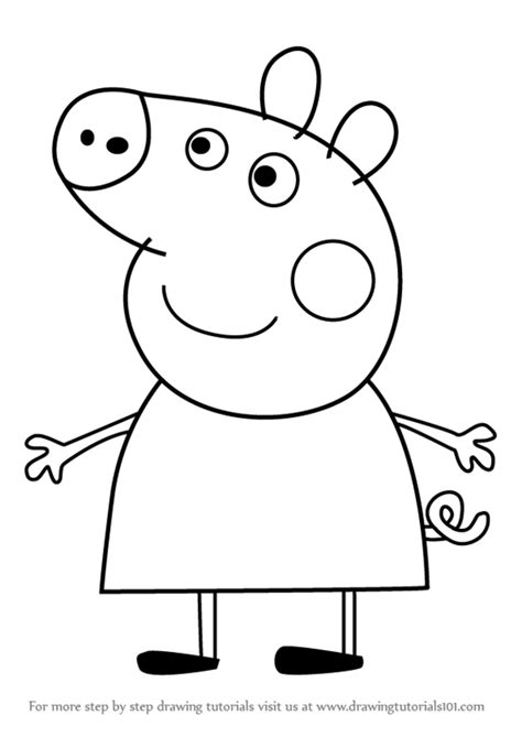 learn how to draw peppa pig from peppa pig peppa pig