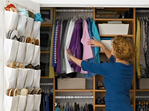 Wardrobe Space Saving Ideas by The Most Of A Master Closet Hgtv