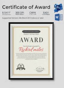 Award Certificate Template   29  Download in PDF, Word