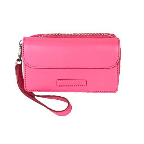 Faux Leather Wristlet Pink Intl vera bradley faux leather iphone 6 7 smartphone wristlet