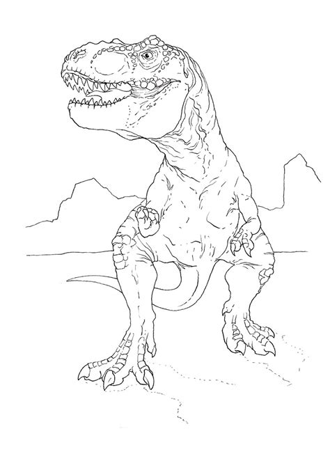 T Rex Line Drawing