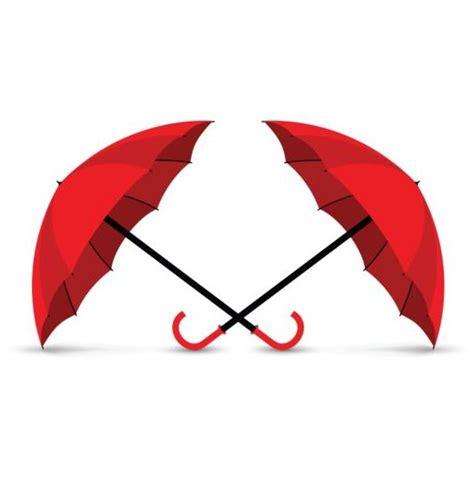 umbrella layout vector red umbrella vector illustration 01 vector other free