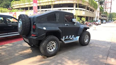 modified thar this modified mahindra thar pokes you right in the eye