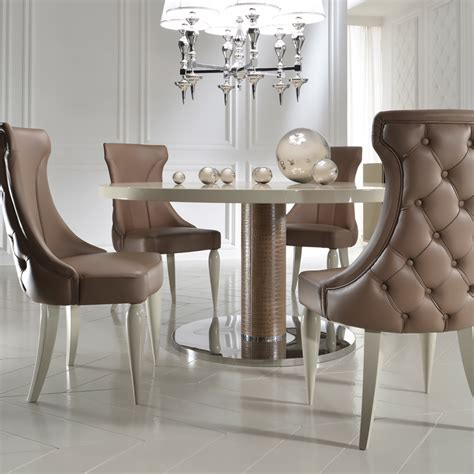 Designer Dining Tables And Chairs High End Italian Designer Leather Dining Chair Juliettes Interiors