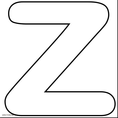 z coloring pages printable letter z coloring page freecolorngpages co
