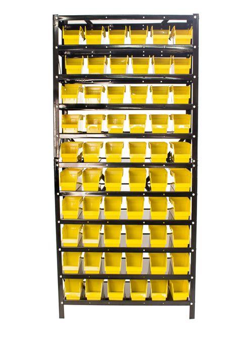 Parts Rack erie tools 174 60 bin parts rack storage shop garage organizer nuts bolts parts ebay
