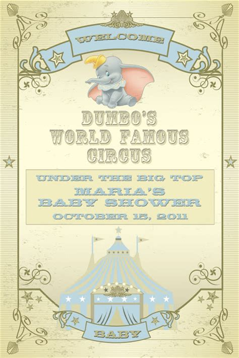 clever a dumbo themed baby shower