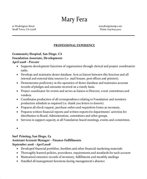 Administration Resume Sles Pdf 10 Entry Level Administrative Assistant Resume Templates Free Sle Exle Format