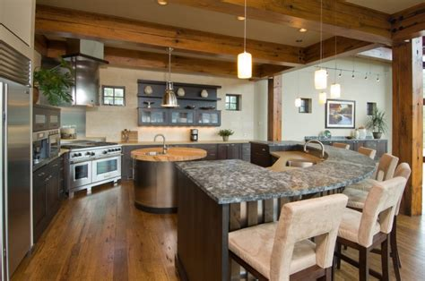curved kitchen islands 18 curved kitchen island designs ideas design trends