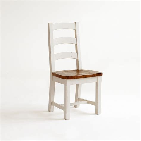 boddem dining chair in white pine wood cottage style 25358