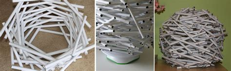 How To Make A Paper Table - diy how to make a bird s nest l shade out of
