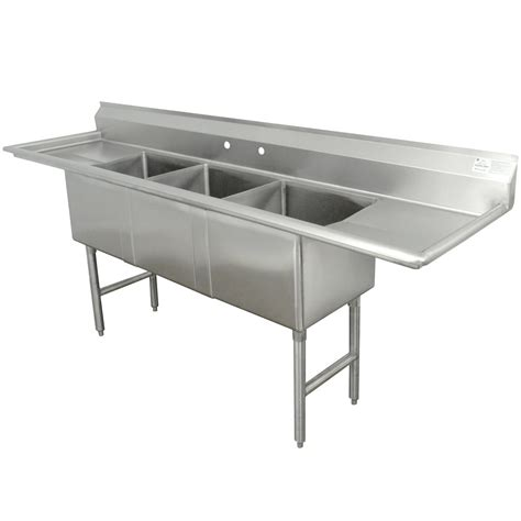 Stainless Steel Sinks Commercial by Advance Tabco Fc 3 1818 18rl Three Compartment Stainless