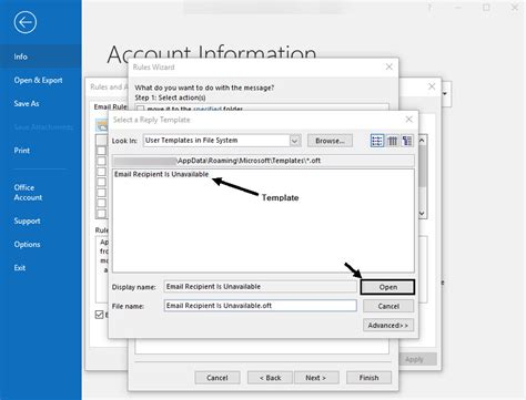 How To Set An Out Of Office Message In Outlook Automatic Away Reply Away Message Template