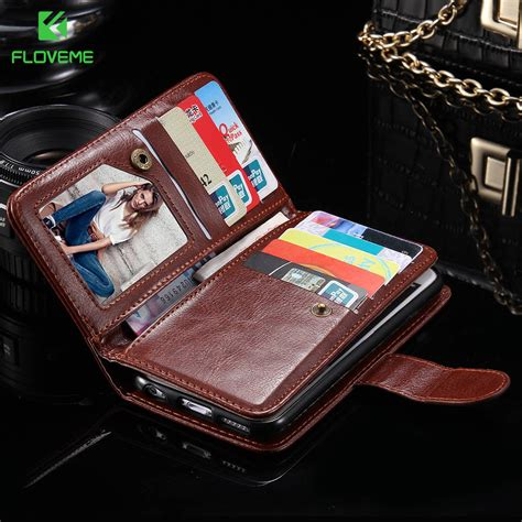 Gratis Ongkir Floveme Luxury Flip Cover Card Holder For Iphone 6 6s floveme for iphone 7 7 plus 6 6s plus pu leather wallet detachable card slots photo frame