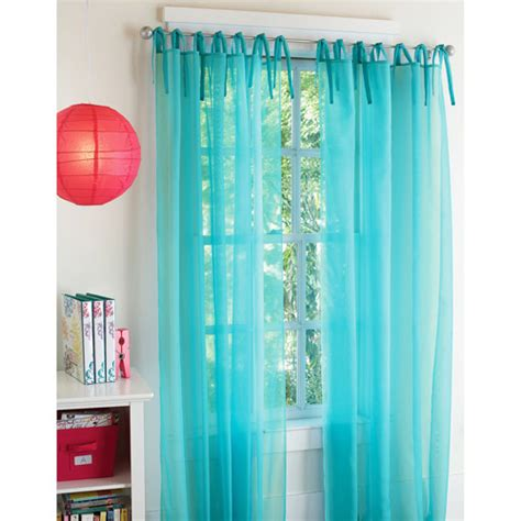 walmart curtains sheers your zone expressions tie top sheer window curtains