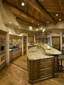 Log Cabin Kitchen Designs Log Cabin Kitchen Dream Home Pinterest