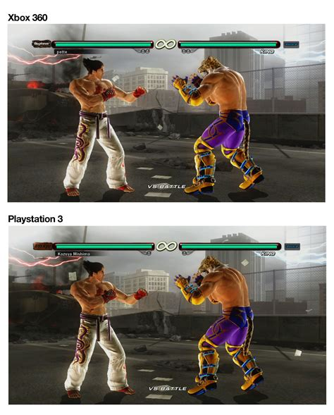 top ps3 graphics vs xbox360 tekken 6 playstation 3 vs xbox 360 who will win the
