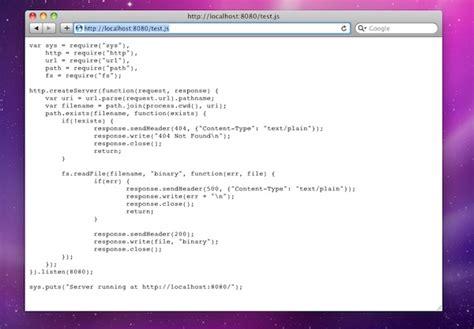 simple node js file server learning server side javascript with node js 網頁程式