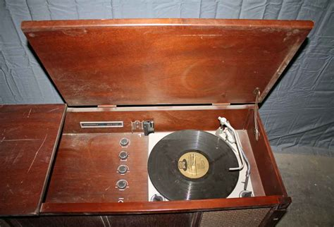 antique record player in wooden cabinet olde things