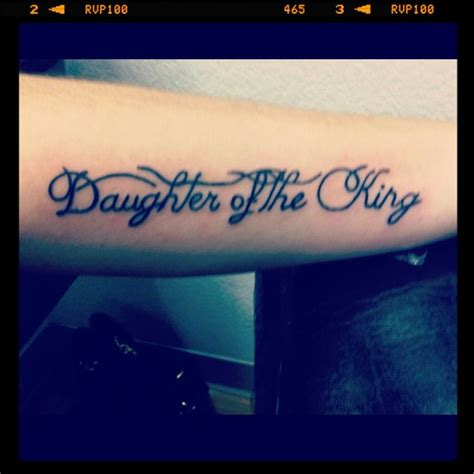 daughter of a king tattoo my of the king