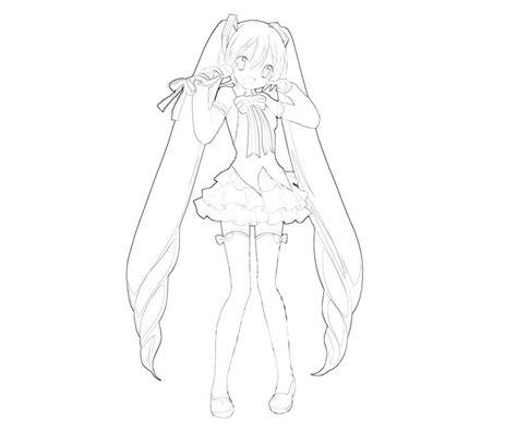 Hatsune Miku Project Hatsune Miku Singing How Coloring Hatsune Miku Coloring Pages