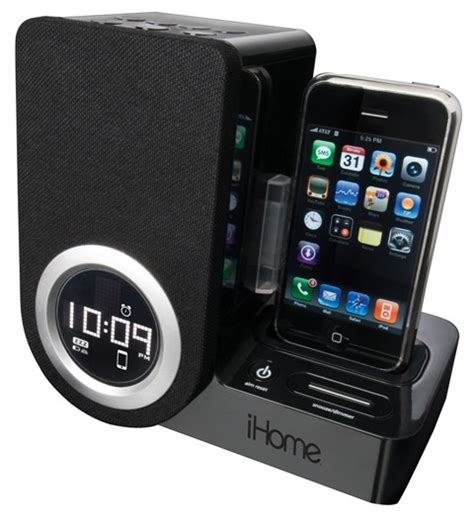 Iboom Travel Ipod Alarm Clock Radio by Gift Guide Ihome Ip41 Rotating Alarm Clock For
