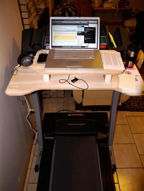 Laptop Desk For Treadmill Diy Laptop Desk To Use On A Treadmill Shelterness