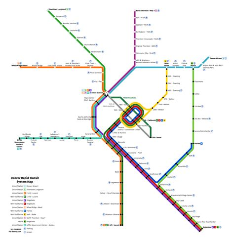 just ask will we see commuter rail from portland unofficial future map denver rtd rail transit by