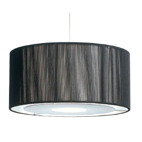 easy fit black silver ceiling light shade drum shaped