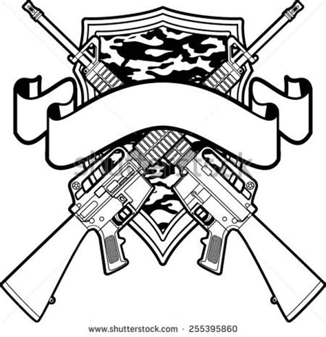 crossed guns stock images royalty free images amp vectors