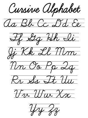 printable cursive letters free best 25 cursive letters ideas on pinterest cursive