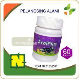 Acaiplus Pelangsing Alami Asli Indonesia toko herbal dharma sehat jual obat herbal 083123950191