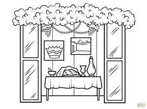 Sukkah Coloring Pages sukkah for sukkot coloring page free printable coloring pages