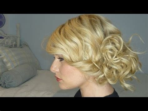 side curly hairstyles youtube taylor swift side bun tutorial youtube