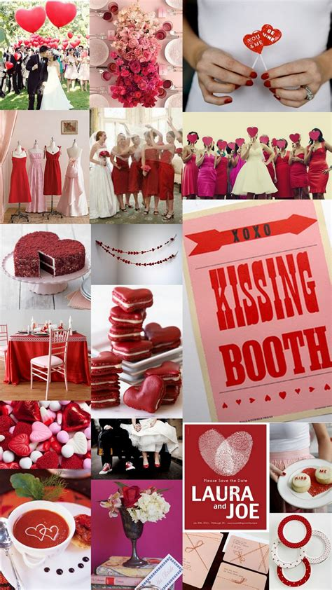 colour themes with white love this red and pink wedding theme the kissing booth is