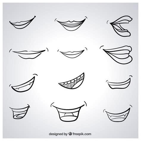 imagenes de sonrisas blancas sonrisas esbozadas descargar vectores gratis