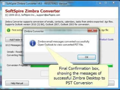 tutorial zimbra email tutorial how to convert zimbra mails to ms outlook youtube