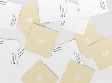 free square business card psd mockup best business cards