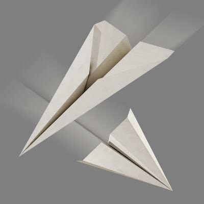 How To Make A 3d Paper Airplane - paper airplanes 3d model