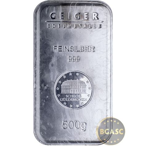 100 Gram Silver Bar Secondary Market by Buy 500 Gram Silver Bars Geiger Security Line 999