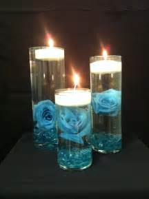 Candle Centerpieces Ideas Turquoise Rose And Floating Candles Centerpieces Centerpieces Pinterest Receptions