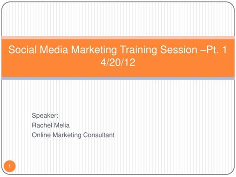 Courses On Marketing 1 by Social Media Marketing Session Pt 1