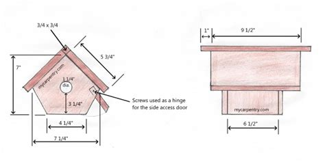 Wren Houses Plans Wren Bird House Bird House Plans