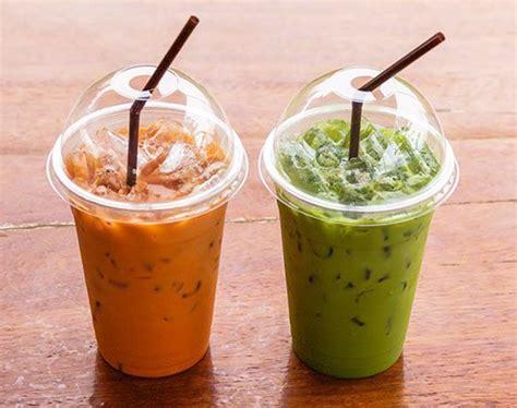 membuat thai green tea segarnya minuman dingin dari teh hingga mangga yang populer