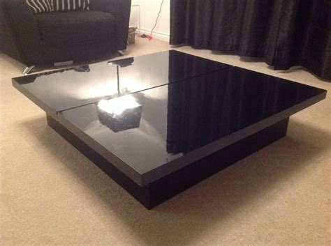black gloss coffee table farmhouse coffee table with storage tool belt