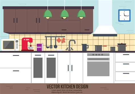 kitchen pattern vector free free kitchen vector design download free vector art