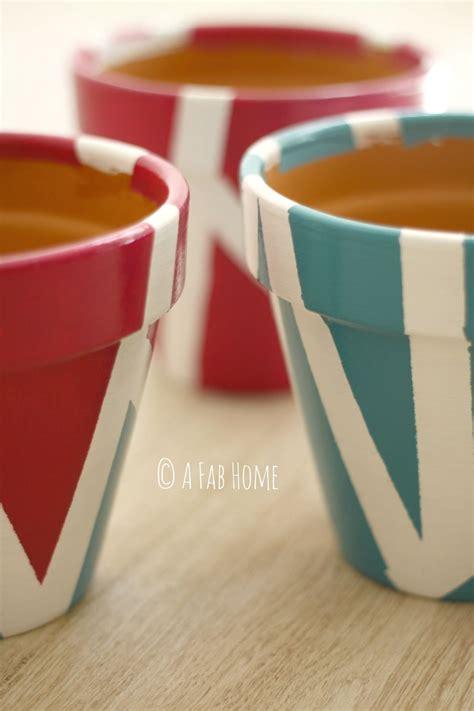 dipingere vasi di terracotta diy tutorial per dipingere i vasi di terracotta i