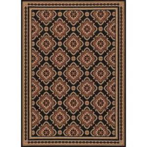 Outdoor Rug Home Depot Hton Bay And Black All 5 Ft 3 In X 7 Ft 4 In Indoor Outdoor Area Rug 3174 81 51