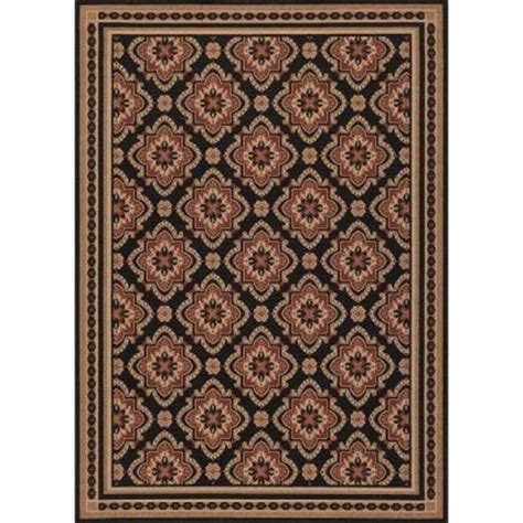 Hton Bay Red And Black All Over 5 Ft 3 In X 7 Ft 4 Hton Bay Indoor Outdoor Rugs