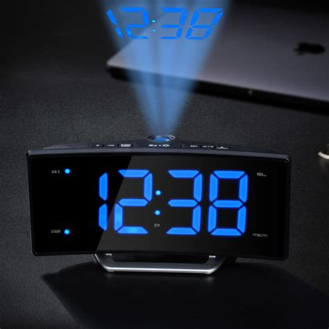 Projection Digital Clock arc led projection alarm clock modern decoration desktop